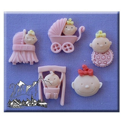 Alphabet Moulds - Baby Girl Silicone Mould