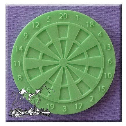 Alphabet Moulds - Dartboard Cupcake Topper Silicone Mould