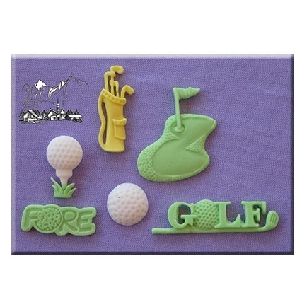 Alphabet Moulds - Golf Silicone Mould