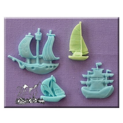 Alphabet Moulds - Ships and Boats Silicone Mould