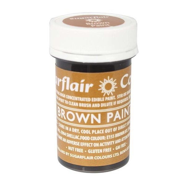 Sugarflair - Brown Edible Matt Paint 20g