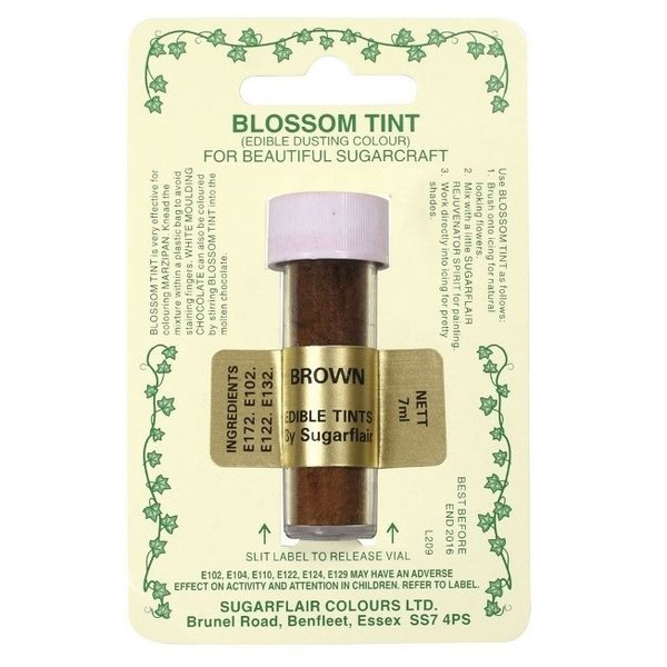 Sugarflair - Brown Blossom Tint Dusting Colour