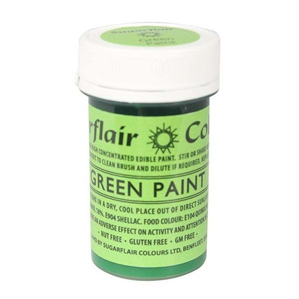Sugarflair - Green Edible Matt Paint 20g