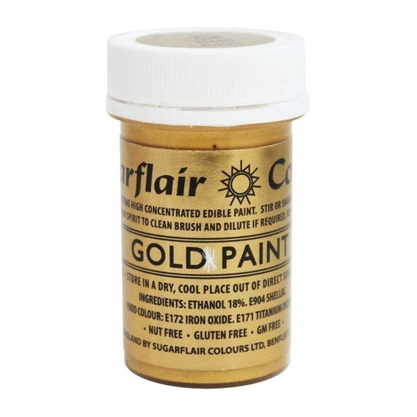 Sugarflair - Gold Edible Matt Paint 20g