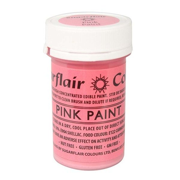 Sugarflair - Pink Edible Matt Paint 20g