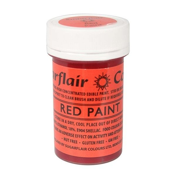 Sugarflair - Red Edible Matt Paint 20g