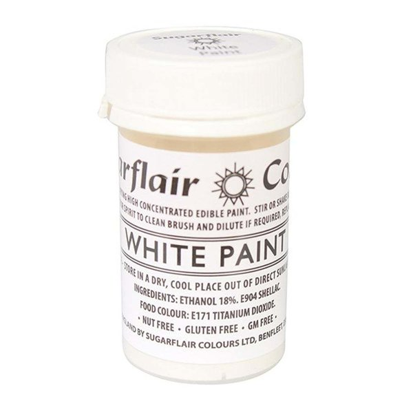 Sugarflair - White Edible Matt Paint 20g