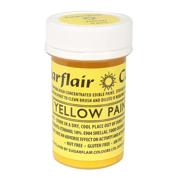Sugarflair - Yellow Edible Matt Paint 20g