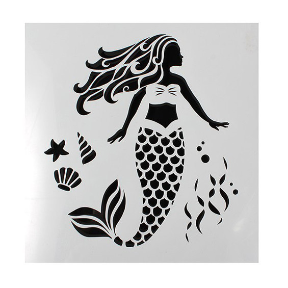 Cake Star - Mermaid Stencil