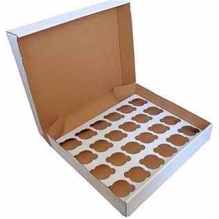 24 Hole Cupcake Box - White