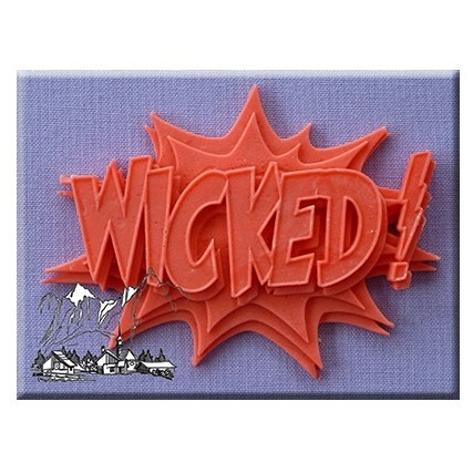 Alphabet Moulds - Comic Splash Wicked Silicone Mould