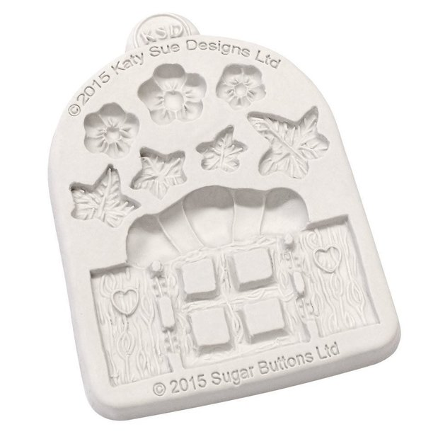 Katy Sue - Enchanted Window & Flowers Sugar Buttons Mould