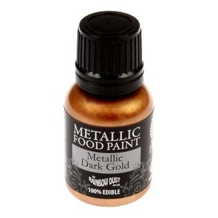 Rainbow Dust – Metallic Dark Gold Food Paint