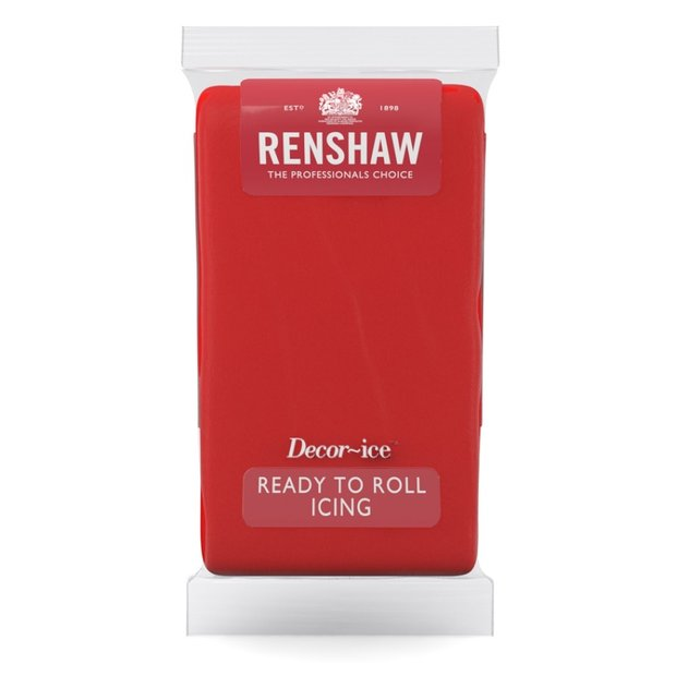 Renshaw Poppy Red Ready to Roll Icing 500g