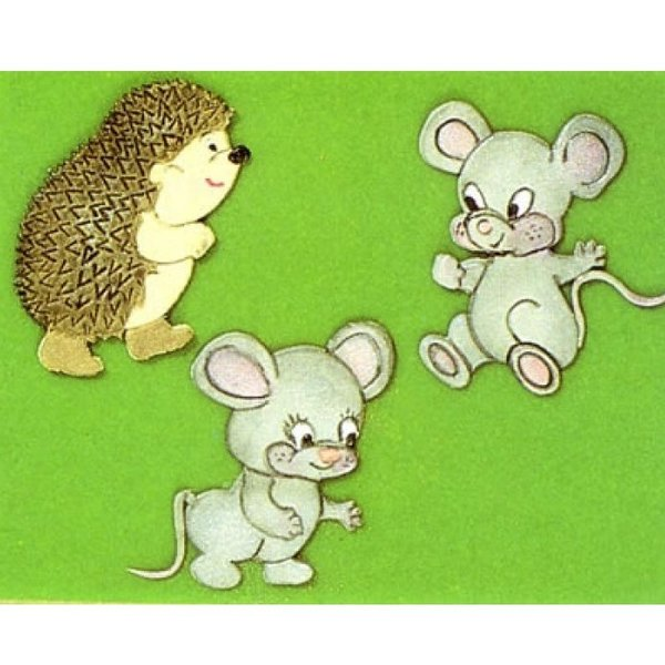 Patchwork Cutters - Mice and Hedgehog