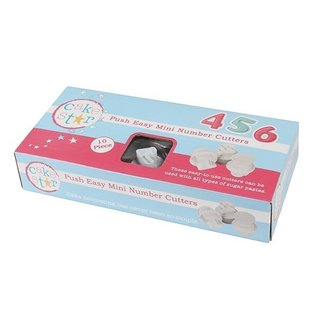 Cake Star - Push Easy Mini Number Cutters